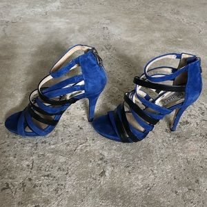 MICHAEL Michael Kors Cage Heels Leather SZ 8 🖤💙